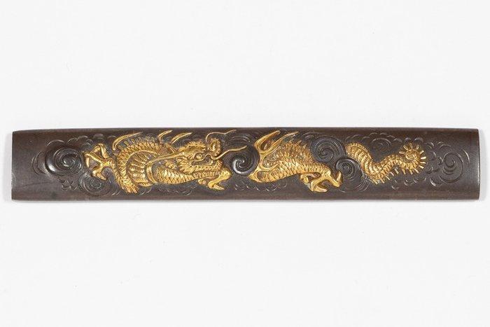 Kozuka (1) - Iron - Dragon - Kozuka (小柄 ), dragon in the clouds design (雲竜) - Japan - 19th century