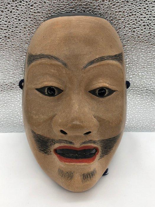 Noh mask - Wood - 怪士(あやかし)- Monster (Ayakashi) - Japan - Shōwa period (1926-1989)
