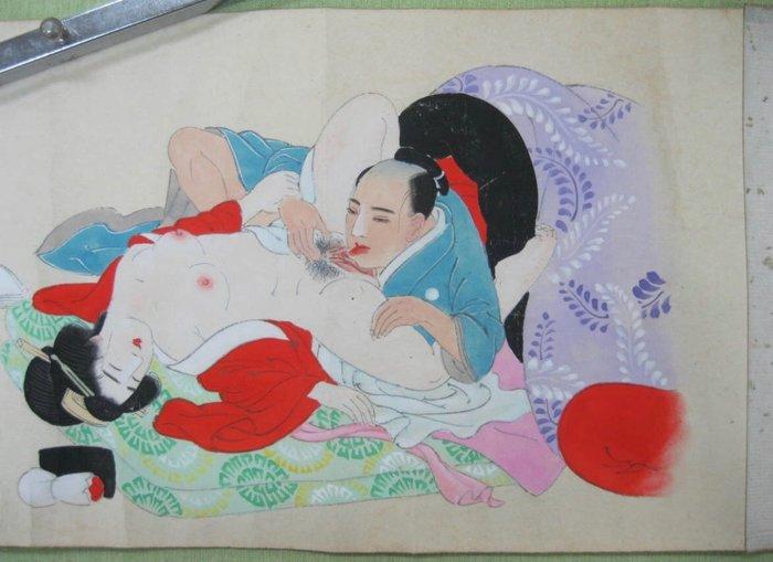 Scroll (1) - Paper - 春画 (Shunga) - Japan - Meiji period (1868-1912)