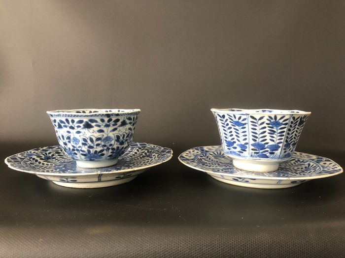 cup and saucer (4) - Porcelain - China - 19th century