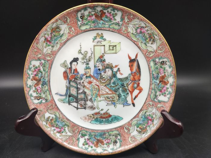 Plate - Famille rose - Porcelain - character - China - 19th century