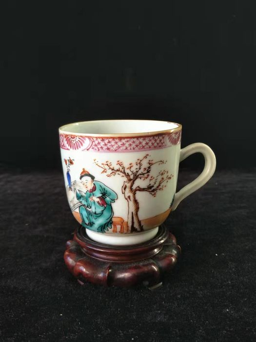 Tea cup - Famille rose - Porcelain - character - China - Qianlong (1736-1795)