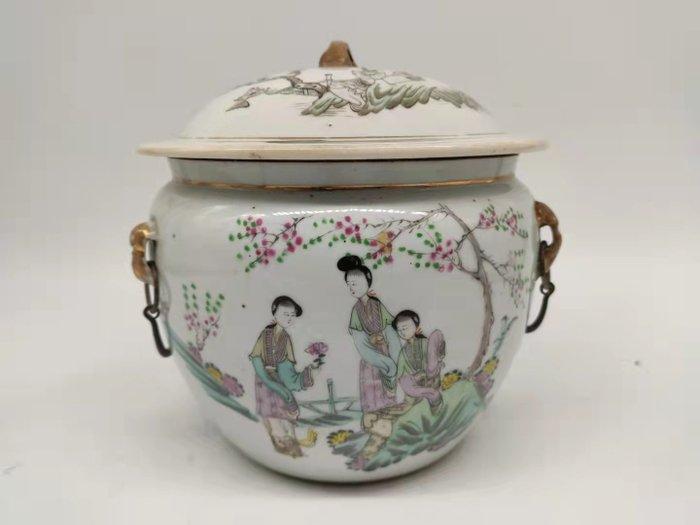 Tureen - Famille rose - Porcelain - Children, Woman - China - 19th century