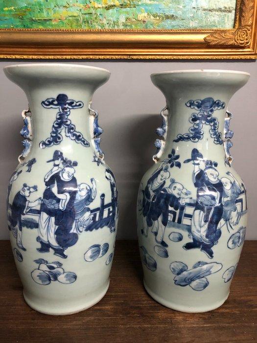 Vases (2) - Porcelain - China - 19th century