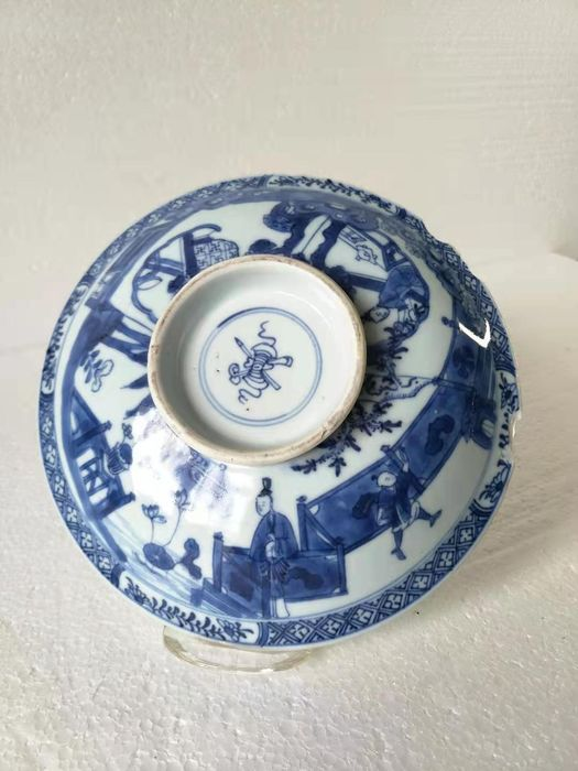Lid or cover - Blue and white - Porcelain - character - China - Kangxi (1662-1722)