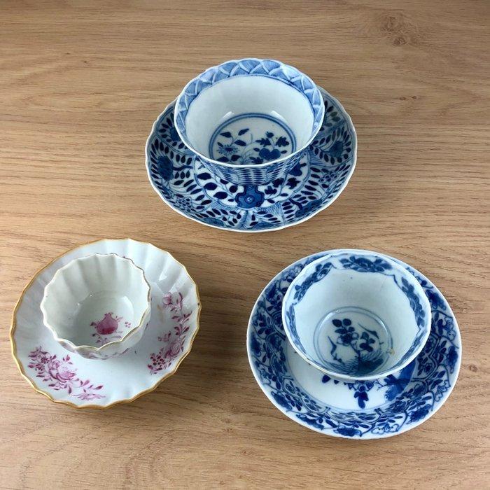 Saucers, Tea cups (6) - Porcelain - China - 18th century