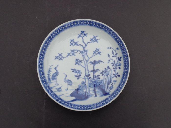 Plate (1) - Blue and white - Porcelain - Crane - China - Jiaqing (1796-1820)