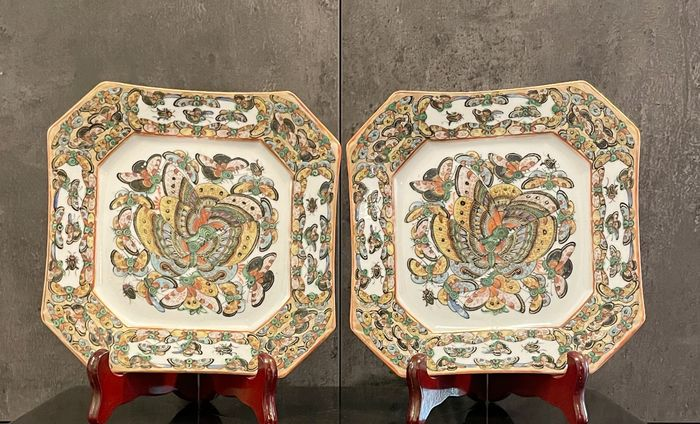 Plates (2) - Porcelain - China - Late 19th century