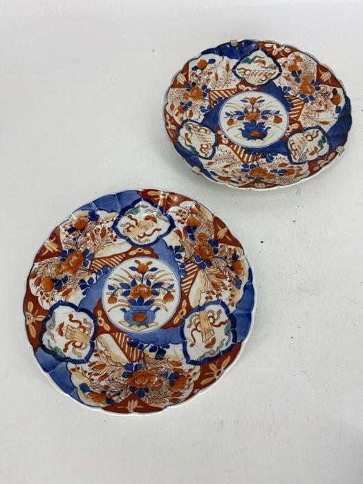 Plates - Porcelain - Imari - By 'Seiji Kaisha'. - Japan - Meiji period (1868-1912)