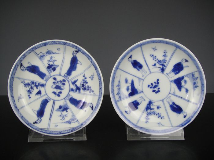 Saucers (2) - Porcelain - China - 18th century