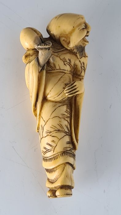 Netsuke - Elephant ivory - sennin - Japan - Edo Period (1600-1868)