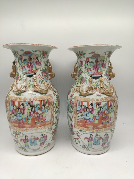 Vase - Canton - Porcelain - character - China - 19th century