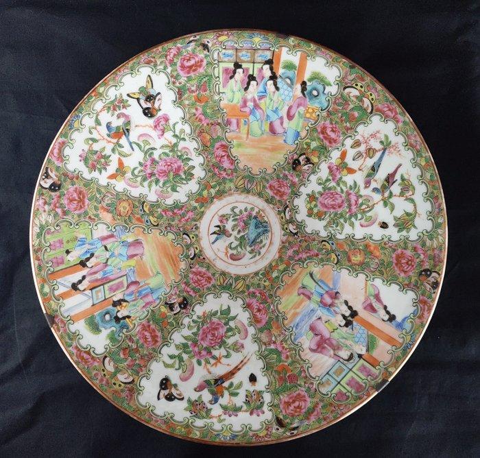 Dish (1) - Guangcai - Porcelain - Mandarin duck - China Guangcai große Platte Ende des 19. Jahrhunderts - China - Late 19th century