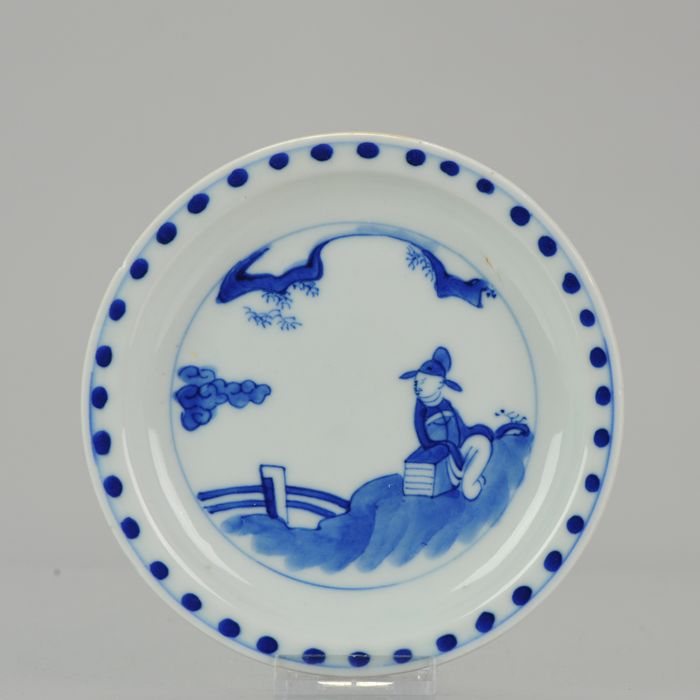 Plate - Blue and white - Porcelain - China - 17th century
