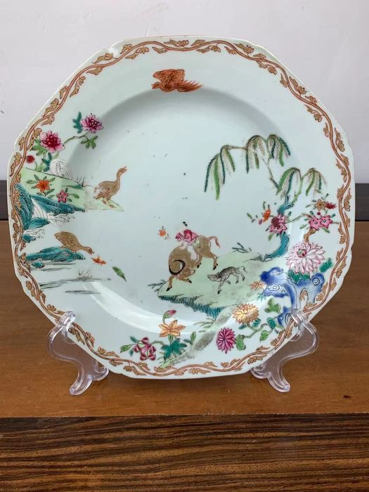 Plate (1) - Famille rose - Porcelain - Child - Yongzheng-dynastie - China - 18th century