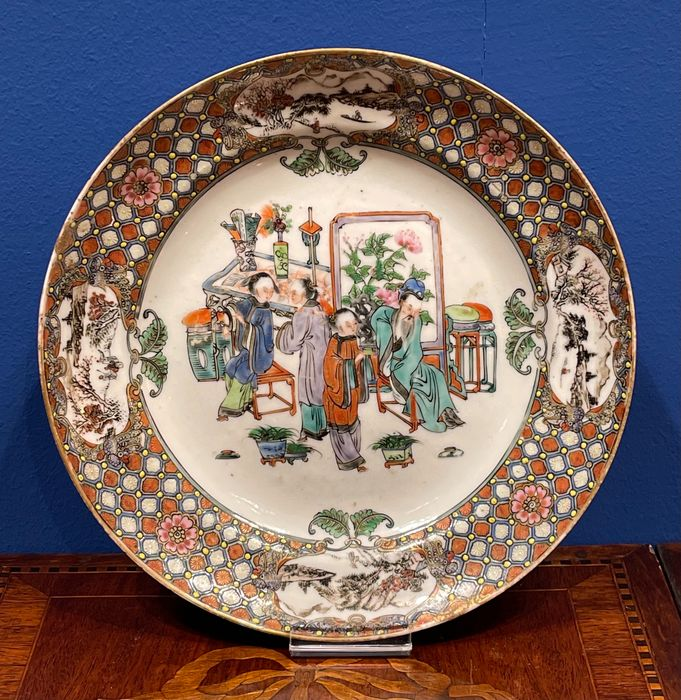 Charger, Dish, Plate (1) - Canton, Famille rose - Porcelain - plate D: 24cm - China - 19th century