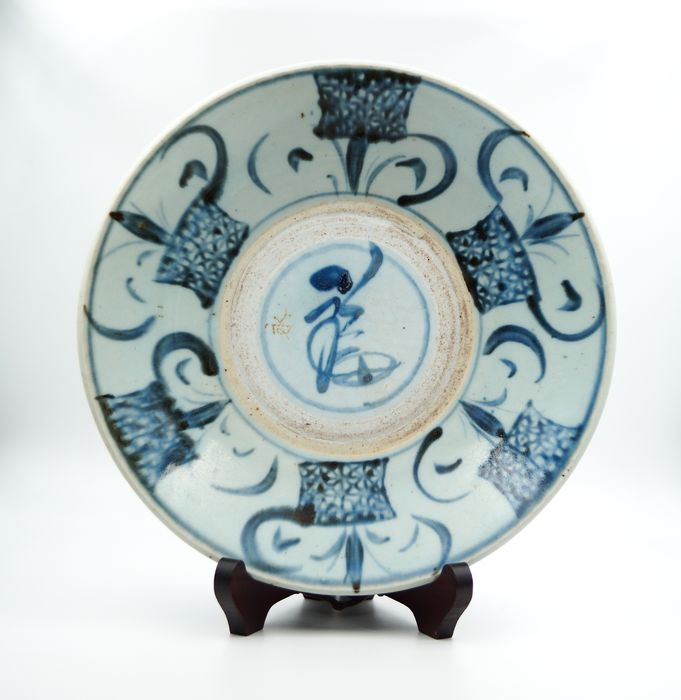 Chinese Blue-White Swatow / Zhangzhou Plate - Porcelain - China - Qing Dynasty (1644-1911)