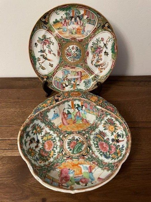 Plates (2) - Porcelain - China - Qing Dynasty (1644-1911)
