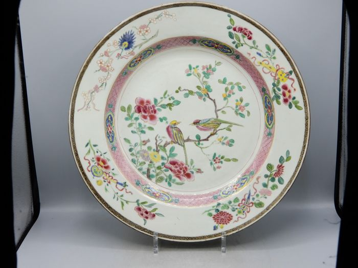 Large charger (35.7cm) - Famille rose - Porcelain - China - Qianlong (1736-1795)