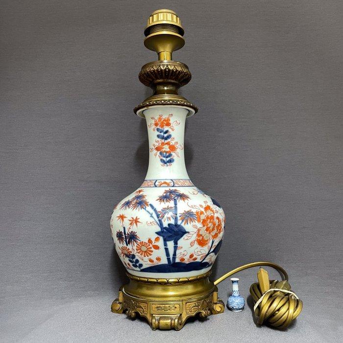 Vase mounted in lamp - Porcelain - Chinese - Chinese Imari vase - Bamboo, peonies and chrysanthemums. - China - Qianlong (1736-1795)