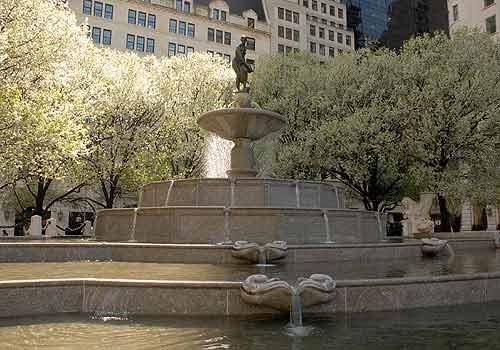 Resultado de imagen para Pulitzer Fountain, Grand Army Plaza nueva york