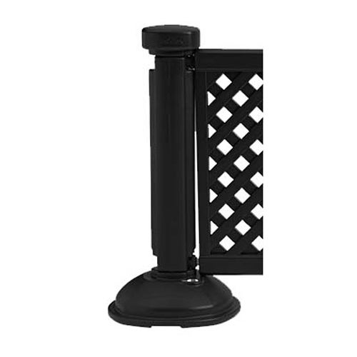 grosfillex us960117 portable resin fence post and base