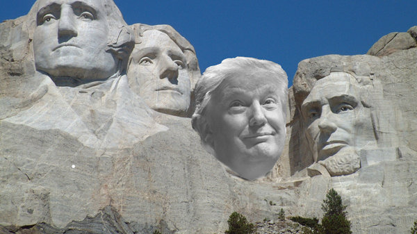 Image result for trump's face on mt rushmore images