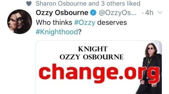 Ozzy has spoken!