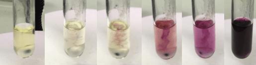 1,10-phenとメントールのTHF溶液にGrignard試薬を加える。赤紫色が消えなったところが終点