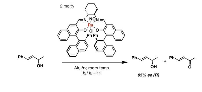 Ruサレン錯体を用いたアルコールの光学分割