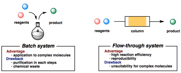 図1 バッチ法とフロー法