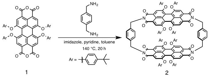Scheme 1: 剛直なシクロファン2の合成