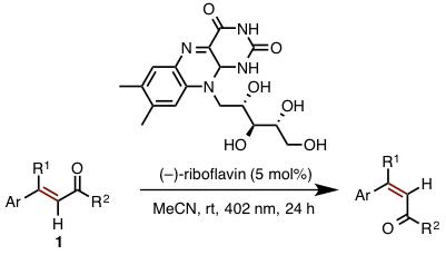図4 リボフラビン触媒によるシスートランス光異性化反応