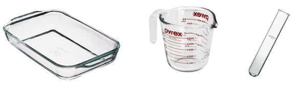 パイレックスガラス製品例