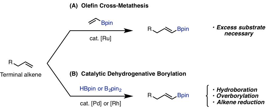 図1. アルケニルボロン酸エステルの合成法