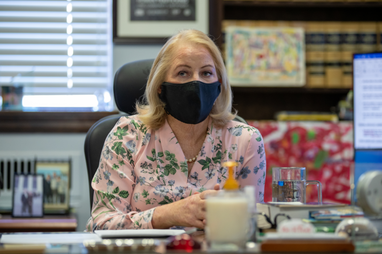 District Attorney for Alameda County, Nancy O'Malley in her office at 1225 Fallon St, Oakland, CA