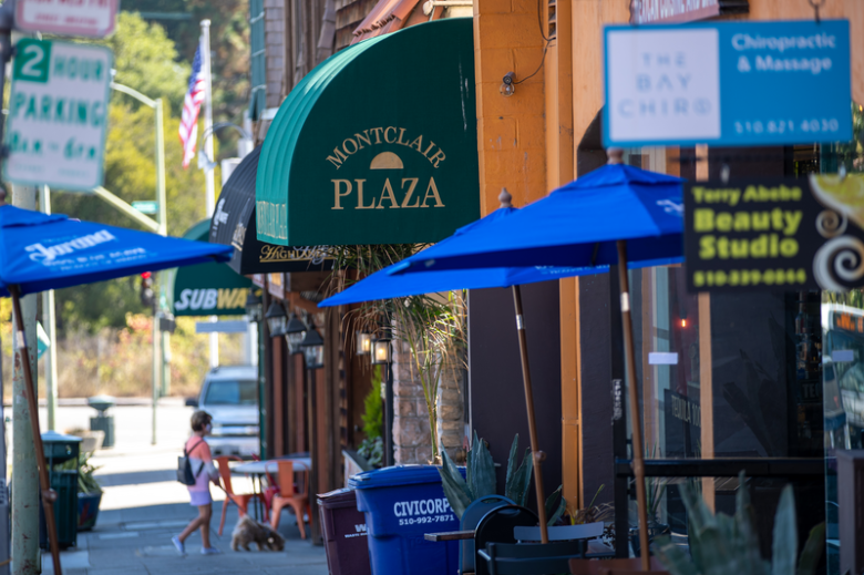 Businesses along Mountain blvd in Montclair