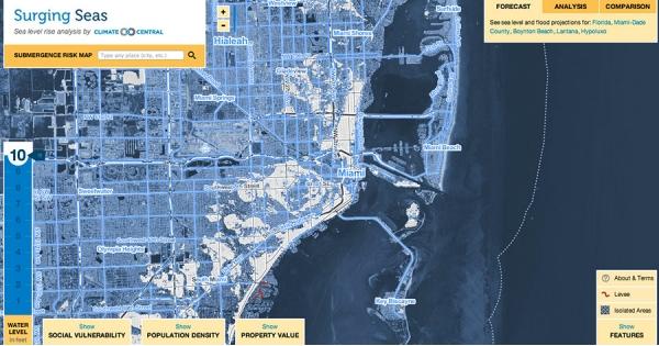 10 feet of sea level rise
