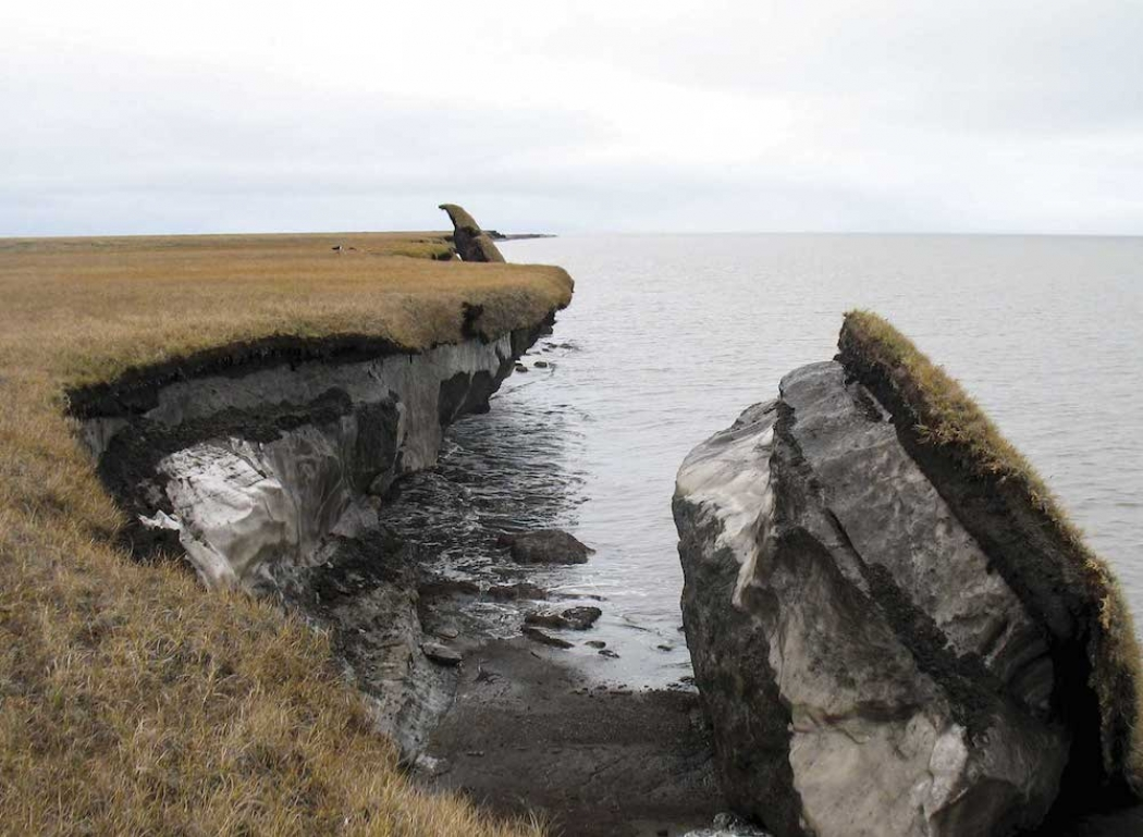 Coastal Permafrost Eroding In Alaska Credit Usgs