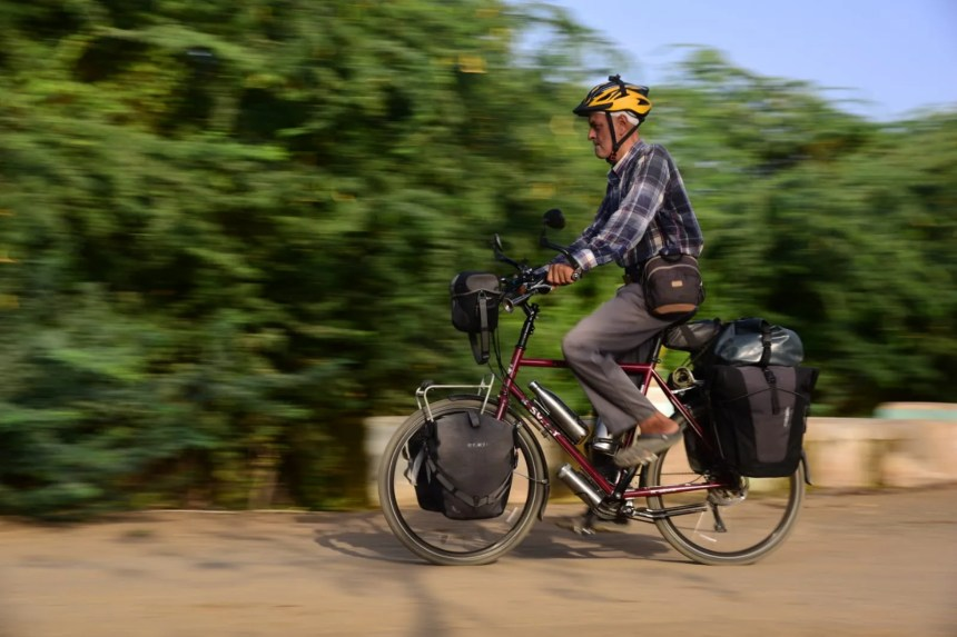 When you are on a bicycle you get to experience every bit of the road the people the culture and the environment.quot