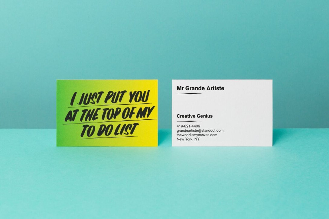 Moo baron von fancy business cards cool hunting emblazoned with slogans like it feels like a good idea i just put you at the top of my to do list and i cant make any promises the cards are equal reheart Choice Image