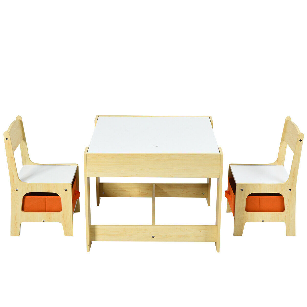 3 In 1 Activity Table Certified Multipurpose Kid Table And Chair Set With Drawers And Storage Wooden Kiddy Sized Furniture With Detachable Blackboard For Toddlers Ages 3 7 Years 3 Pieces