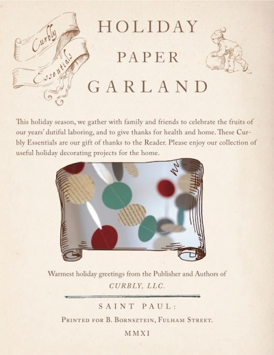 Curbly Essentials: Holiday Paper Garland