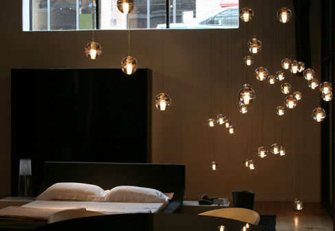 Pendant lamps array