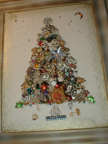 Make Costume Jewelry Artwork Collage For Your Wall