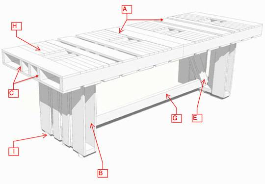 plans for a wood pallet dining table