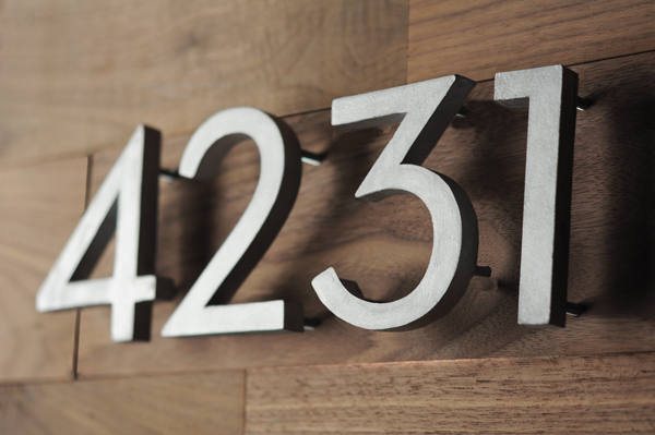 How To: Make Your Own Mid-Century Modern House Numbers