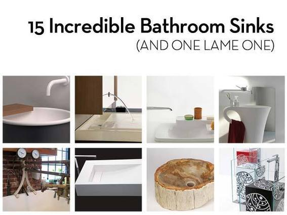 15 Incredible Bathroom Sinks (and one lame one)