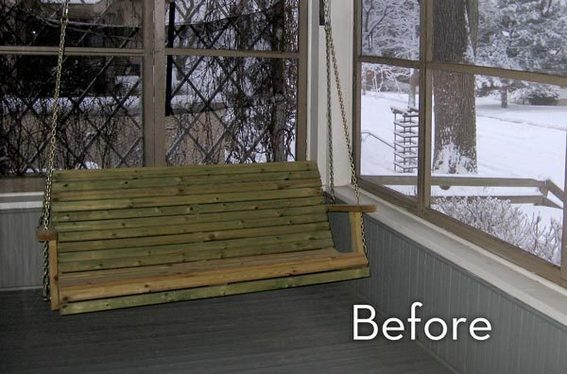Our porch, before.