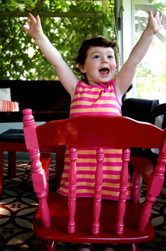 Ayla loves her rocking chair!